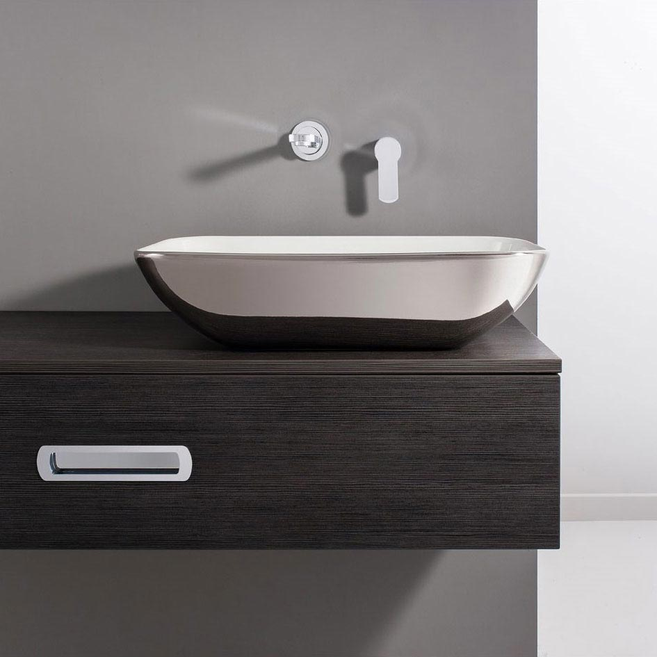 Bauhaus - Serene Platinum Countertop Basin - 580 x 350mm