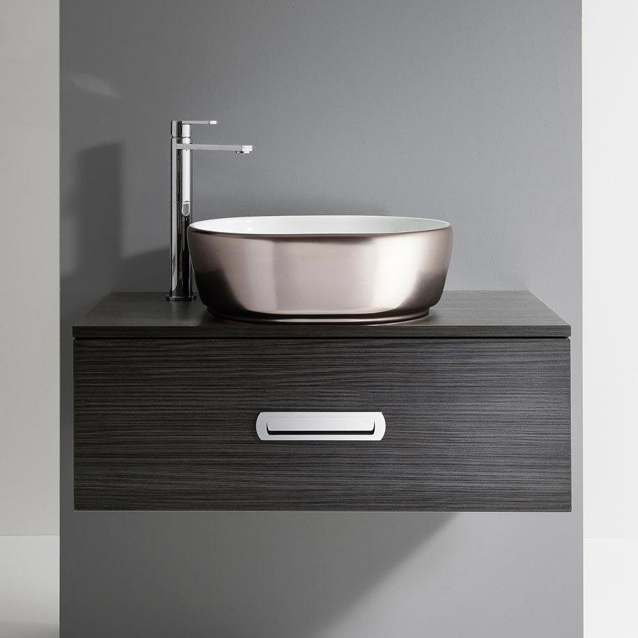 Bauhaus Pearl Platinum Countertop Basin - 450 x 350mm profile large image view 1