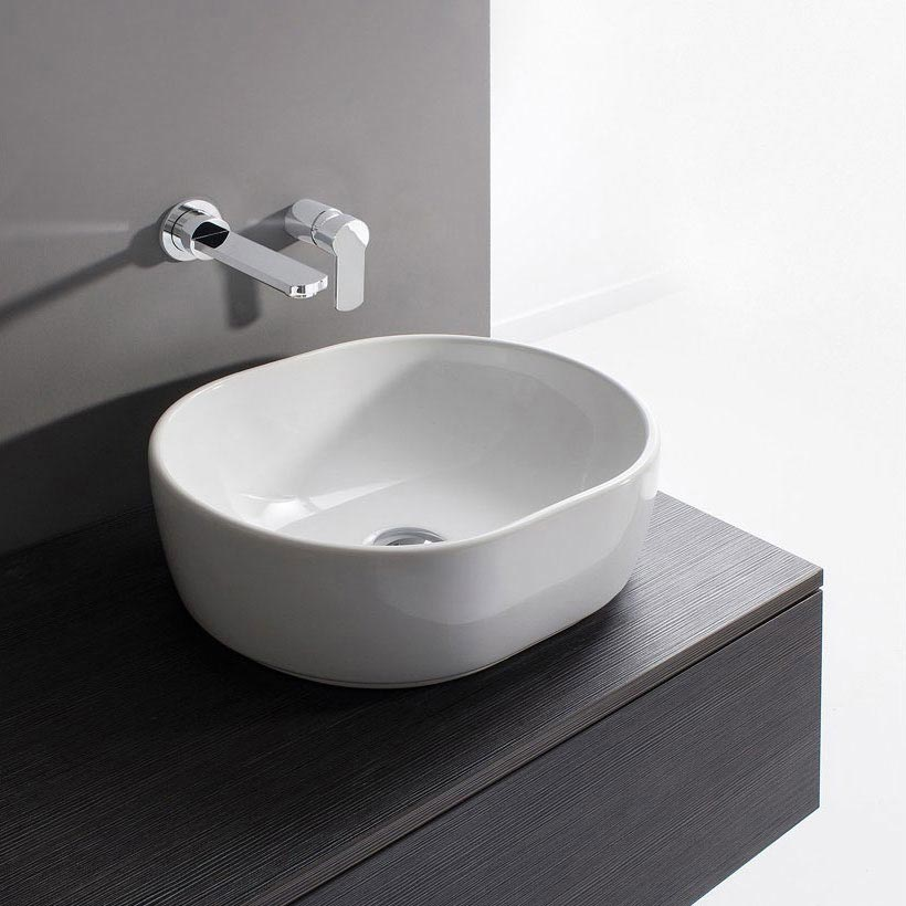 Bauhaus - Pearl Countertop Basin - 450 x 350mm profile large image view 1