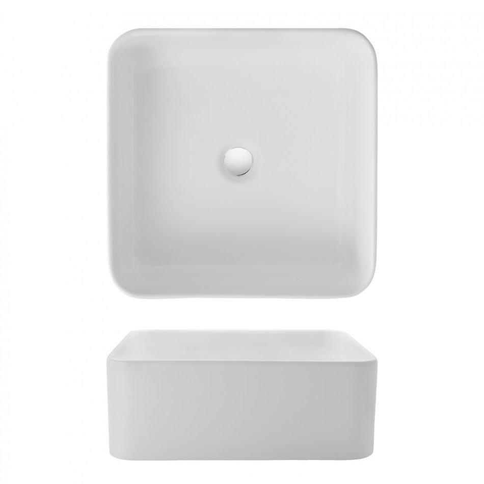 Bauhaus - Bold Countertop Basin - 400 x 400mm profile large image view 2