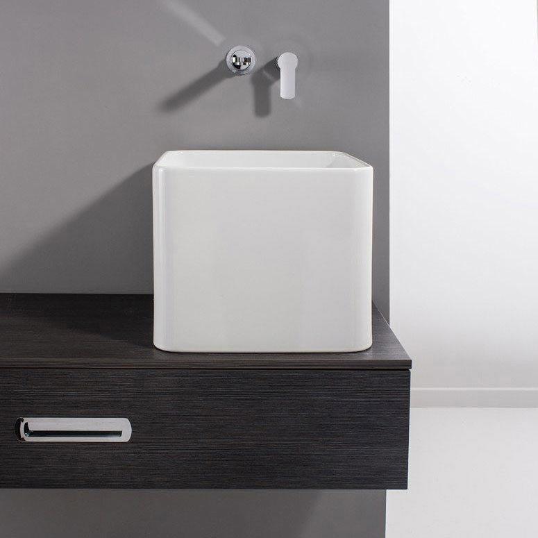 Bauhaus - Bold Tall Countertop Basin - 400 x 400mm Large Image