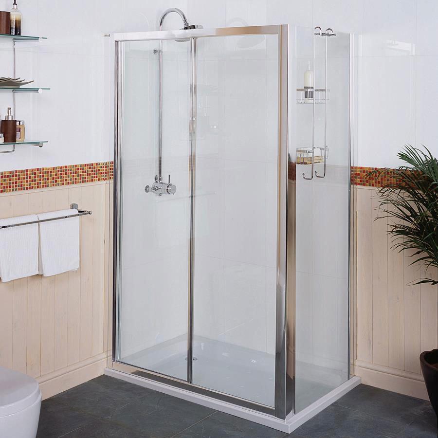 Roman Collage Sliding Shower Door Large Image