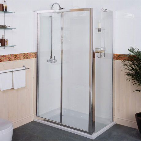 Roman Collage Sliding Shower Door
