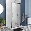 Chatsworth Traditional 1000 x 700mm Sliding Door Shower Enclosure + Tray profile small image view 1