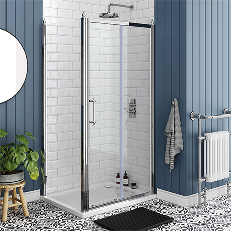 Chatsworth Traditional 1000 x 800mm Sliding Door Shower Enclosure without Tray