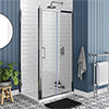 Chatsworth Traditional 1000 x 800mm Sliding Door Shower Enclosure + Tray profile small image view 1
