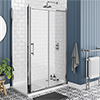 Chatsworth Traditional 1200 x 700mm Sliding Door Shower Enclosure + Tray profile small image view 1