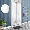 Chatsworth Traditional 1200 x 1850 Sliding Shower Door profile small image view 1