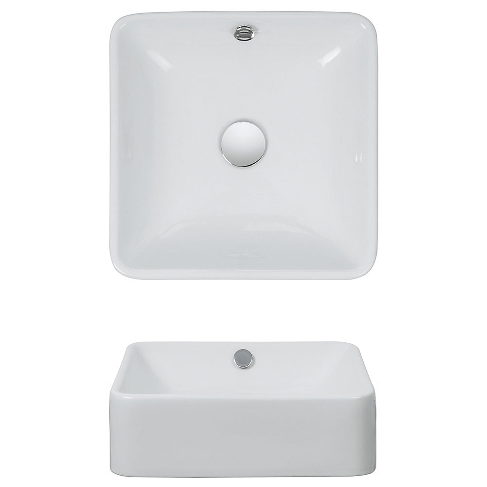 Bauhaus - Sevillas Countertop or Wall Mounted Basin - 400 x 400mm Profile Large Image
