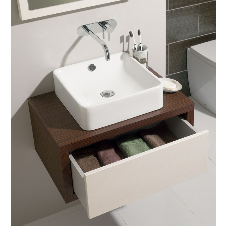 Bauhaus - Sevillas Countertop or Wall Mounted Basin - 400 x 400mm Feature Large Image