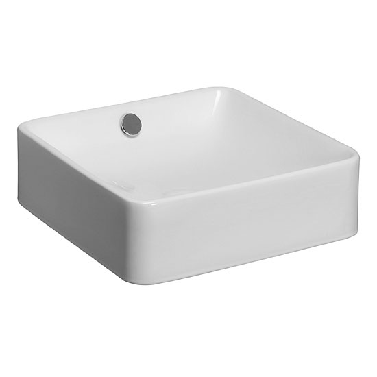 Bauhaus - Sevillas Countertop or Wall Mounted Basin - 400 x 400mm Large Image
