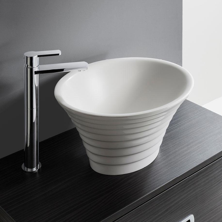 Bauhaus Avenue Countertop Basin - 366 x 436mm Large Image