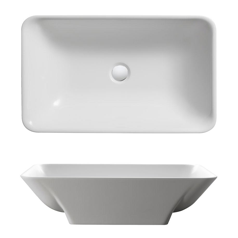 Bauhaus Hattie Countertop Basin - 358 x 596mm profile large image view 2