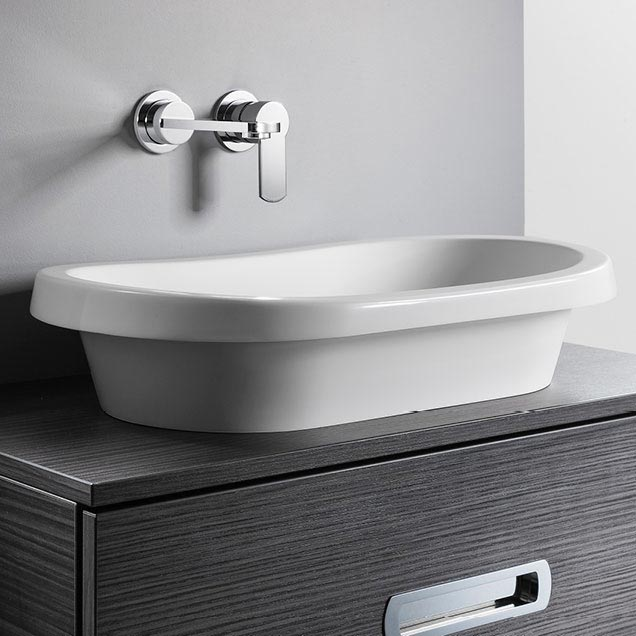 Bauhaus Monterey Countertop Basin - 307 x 602mm Large Image