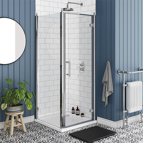 Chatsworth Traditional 800 x 800mm Hinged Door Shower Enclosure + Tray