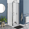 Chatsworth Traditional 800 x 800mm Hinged Door Shower Enclosure + Tray profile small image view 1