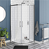 Chatsworth Traditional 800 x 800mm Quadrant Shower Enclosure + Tray profile small image view 1