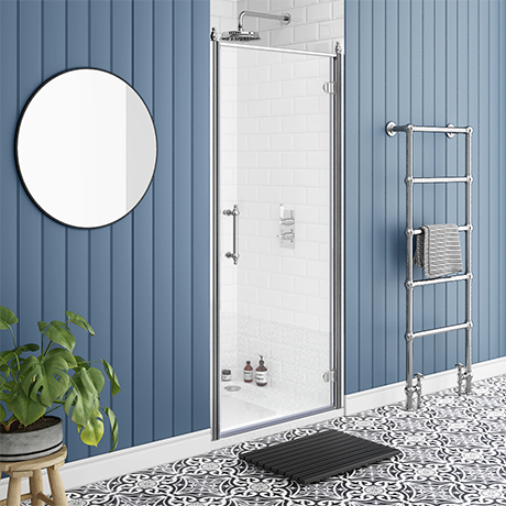 Chatsworth Traditional 900 x 1850 Hinged Shower Door