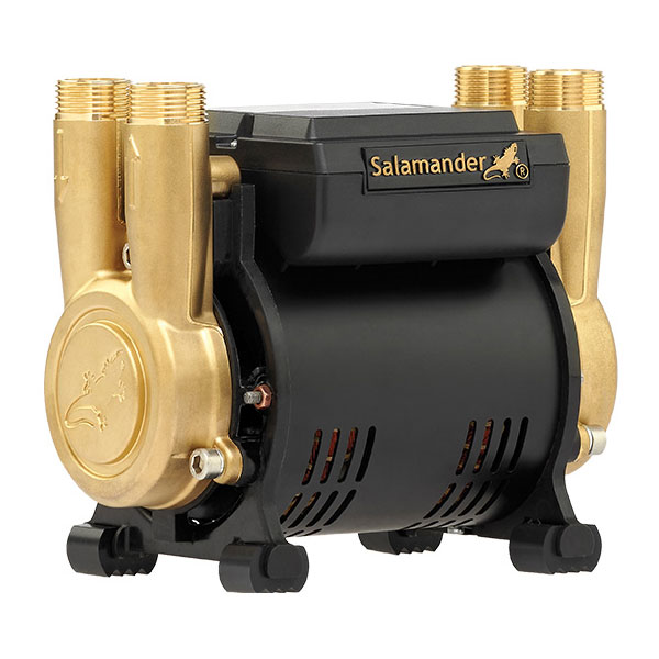 Salamander CT Force 15PT 1.5 Bar Twin Brass Ended Positive Head Shower Pump profile large image view 1