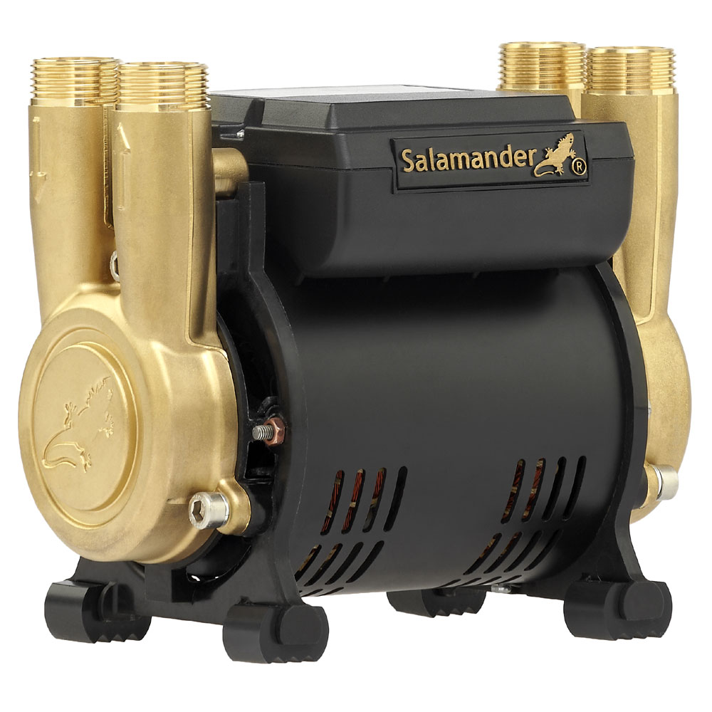 Salamander CT Force 20PT 2.0 Bar Twin Brass Ended Positive Head Shower Pump Large Image