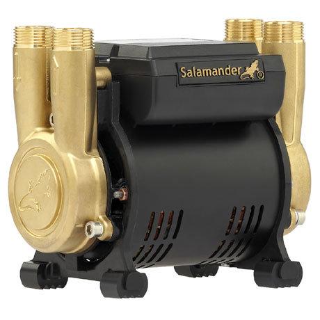 Salamander CT Force 20PT 2.0 Bar Twin Brass Ended Positive Head Shower Pump