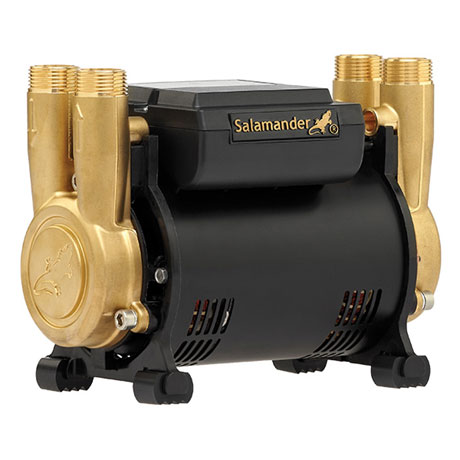 Salamander CT Force 30PT 3.0 Bar Twin Brass Ended Positive Head Shower Pump