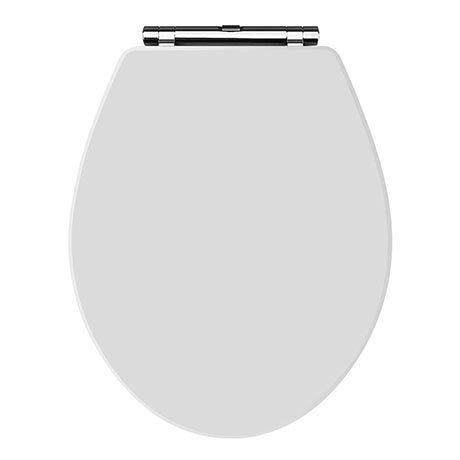 Carlton White Wooden Soft Close Toilet Seat