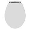 Carlton White Wooden Soft Close Toilet Seat profile small image view 1