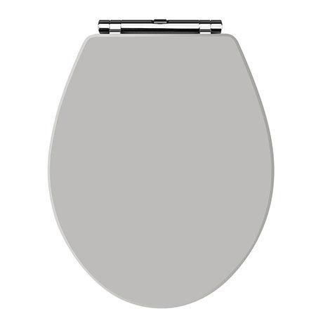 Carlton Stone Grey Wooden Soft Close Toilet Seat
