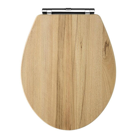 Carlton Natural Walnut Wooden Soft Close Toilet Seat