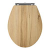 Carlton Natural Walnut Wooden Soft Close Toilet Seat profile small image view 1