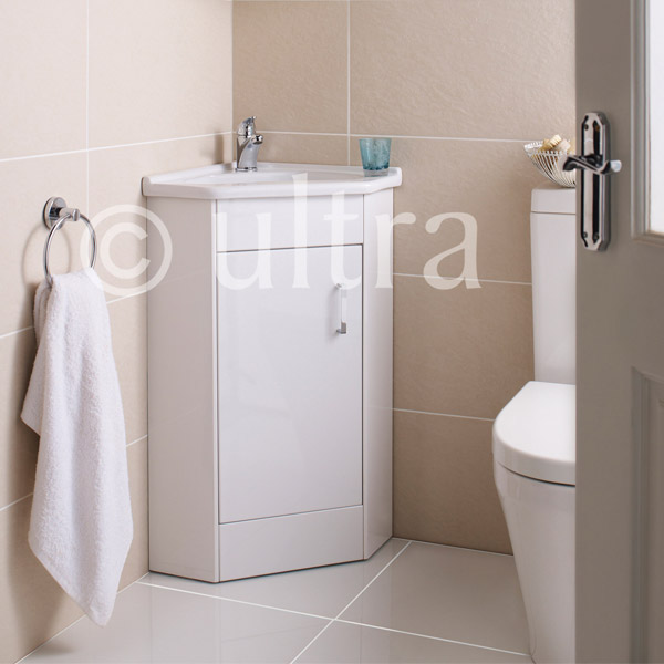 Ultra Design Floor Mounted Corner Unit inc Ceramic Basin - CU001 profile large image view 3