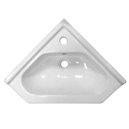 Ultra Design Floor Mounted Corner Unit inc Ceramic Basin - CU001 profile large image view 2