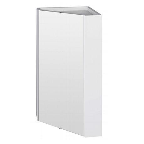 Cove Gloss White Corner Mirror Cabinet