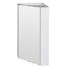 Cove Gloss White Corner Mirror Cabinet profile small image view 1
