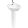 Britton Bathrooms Curve2 450mm 1TH Basin with Full Pedestal profile small image view 1