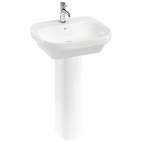 Britton Bathrooms Curve2 550mm 1TH with Full Pedestal