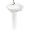 Britton Bathrooms Curve2 550mm 1TH Basin with Full Pedestal profile small image view 1