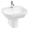 Britton Bathrooms Curve2 550mm 1TH Basin with Semi Pedestal profile small image view 1
