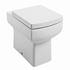 Cubo Back to Wall Pan with Soft Close Seat profile small image view 1