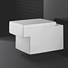 Grohe Cube Ceramic Rimless Wall Hung Toilet with Soft Close Seat profile small image view 1