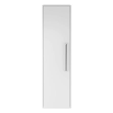 Hudson Reed Solar 350mm Wall Hung Tall Unit - Pure White - CUR162