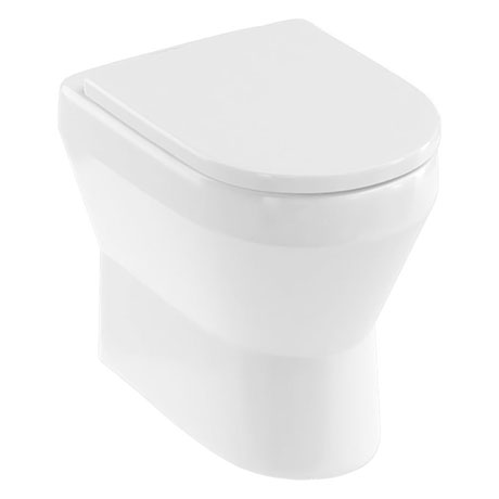 Britton Bathrooms Curve2 Rimless Back-to-Wall Pan + Soft Close Seat