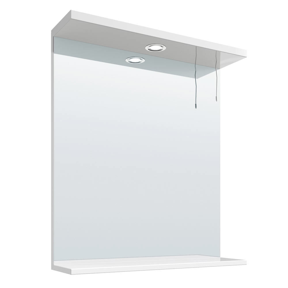 Cove White Illuminated Mirror (650mm Wide) profile large image view 1
