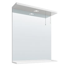 Cove White Illuminated Mirror (650mm Wide) Medium Image