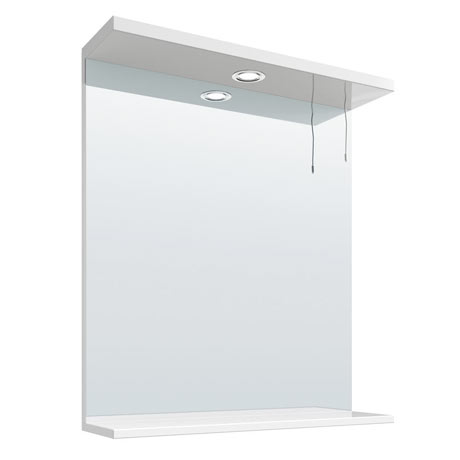 Cove White Illuminated Mirror (650mm Wide)