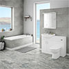 Cove 1150mm Vanity Unit Suite + Single Ended Bath profile small image view 1