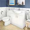 Cove 1150mm Vanity Unit Cloakroom Suite (Gloss White - Depth 300mm) profile small image view 1