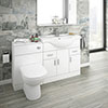 Cove 1320mm Vanity Unit Suite + Tap (High Gloss White - Depth 330mm) profile small image view 1