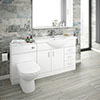 Cove 1520mm Vanity Unit Bathroom Suite (High Gloss White - Depth 330mm) profile small image view 1